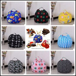 Wholesale Dolls Clothes 18 - 22 Colors 18 inches Storage Bean Bags Kids Bedroom Stuffed Animal Dolls bag Plush Toys Large Capacity Spherical Totes CCA8330 50pcs