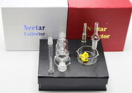 Wholesale Gift Boxes Prices - Factory price Red black white mini nectar collector Kit 10mm 14mm 19mm smoking Pipe Micro NC with gift box glass bong