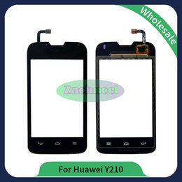Wholesale Glasses Broken - For Huawei Ascend Y210 black touch Screen Digitizer Glass replacement fault broken digitizer brand new and high quality assurance