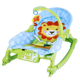 Wholesale 12 Color Wheel - Baby rocking chair BB multifunctional portable folding electric rocking chair for children shock light music to calm the chair