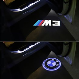 Wholesale Led Logo Bmw - 2pcs Led Car Door Light Logo Laser Projector light For BMW E90 E91 E92 E93 M3 F30 Ghost Shadow Decorative Lamp Accessories