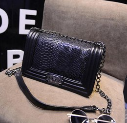 Wholesale Designer Lambskin Handbags - TOP Quality Women's Classic Designer Boy Flap Bag, Famous Brand Quilted Chain Lambskin Caviar Leather with Flaps Quilted Chain Handbag