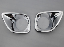 Wholesale Rav4 Front - Accessories Fit For Toyota 2014 2015 RAV4 Front Fog Lights Cover with ABS Chrome Front lamp trim car-styling