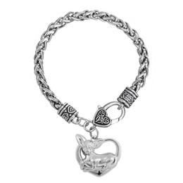 Chihuahua fascini online-Monili liberi degli amanti degli animali dell'animale della catena del grano del braccialetto dell'artiglio del braccialetto dell'animale domestico di fascino del cane della chihuahua di trasporto