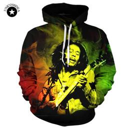 Wholesale Hoody Custom - Wholesale- Unicomidea Bob Marley 3D Reggae Star Printed Hoody Hoodie Custom Made Clothing Men Women Streetwear