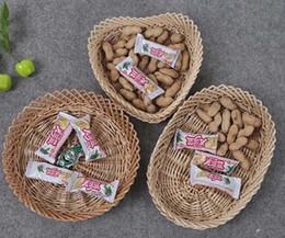Wholesale Natural Cane - 3Pcs Set Natural willow cane handmade candy holder basket fruit tray LZ0192