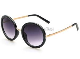 ed192d149a billige schwarze rahmenbrille Rabatt Glasses Shop Vintage Runde Big Frame  Sonnenbrille Schwarz Klassische Eyewear Europe Style