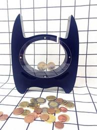 Wholesale Kids Dispenser - Wooden Batman Piggy Bank Children Coin Bank Money Box Nursery Art Home Decor Dispenser Money Safe Kids Room Craft Gift For Kids