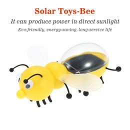 Wholesale Bee Solar - Solar Toy Cute Bee Solar Powered Energy Robot Toys For Children Kids Educational Toys Gift Retail Package