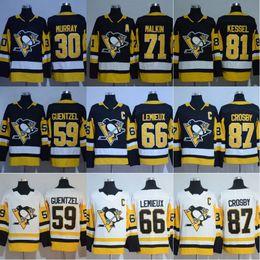 Wholesale Murray S - 2017-2018 Season 87 Sidney Crosby 81 Phil Kessel 71 Evgeni Malkin 66 Mario Lemieux 30 Matt Murray Pittsburgh Penguins Hockey Jerseys Cheap