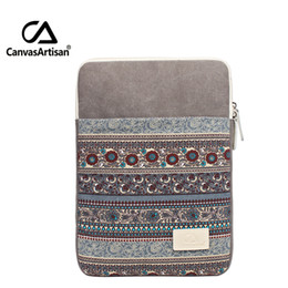 Wholesale Microsoft Pro - Wholesale- Top Quality Canvas Laptop Sleeve Tablet Case Notebook Protective Cover For 13 inch Briefcase For 13.3 Microsoft Surface Pro 3