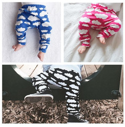 Wholesale Babys Blue Clothes - Spring Autumn Colorful Cloud Printed Boys Girls Pants Elastic Loosing Pants Cotton Comfortable Children Clothing Cute Babys Clothes K7720