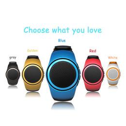 Wholesale Waterproof Watch Speaker - B20 Bluetooth Speaker movement Music watch Mini Watch Bluetooth 2.1+EDR Sport TF Card FM Audio Radio wireless Speakers Subwoofer boombox