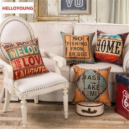 Wholesale Seat Lumbar Pillow - BZ095 Luxury Cushion Cover Pillow Case Home Textiles supplies Lumbar Pillow British wind retro pillows chair seat