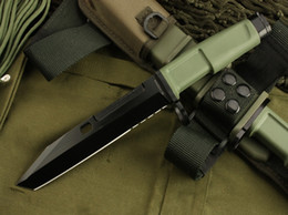 Wholesale Extrema Ratio Fixed - EXTREMA RATIO Bayonet (OEM version) green 8CR13MOV Blade 58HRC Handle camping outdoor gear EDC tools knife free shipping
