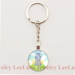 Wholesale Lucky Ring Red - The Best Life Ever JW.ORG Charm Key Chain Jehovah's Witnesses Key Ring Glass Cabochon Pendant Lucky Jewelry for Women and Men