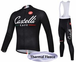 Wholesale Lowest Price Thermals - high quality low price Customized Winter thermal fleece cycling jersey Suitable Bike Cycling Clothing bib pants sportswear bike wear set