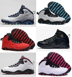 Wholesale c lower - 2018 Men Basketball Shoes X Bulls OVO Over Broadway LA Hornets City Pack 10s Sports Vivid Pink 10 sneakers CHI Rio Athletic Trainers