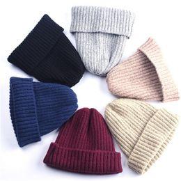 Wholesale Free Fringe - Man and Woman winter beanie knitted wool hat plus velvet cap skullies Thicker mask Fringe beanies Autumn hats Keep Warm Add Velvet Caps