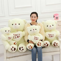 Wholesale Boyds Halloween - White Color Teddy Bear Cute Stuffed Bear Toys Soft Plush Doll Boyds Bear 50cm 70cm 90cm 110cm