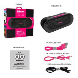 Wholesale Beatbox Bluetooth Speakers - Mini Bluetooth wireless waterproof speaker beatbox BI portable super bass for iphone samsung tablet pc cell phone