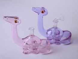 Wholesale Polish Glasses - 2016 new COLORED Dino Rigs oil rigs dab rigs with 4 slit cuts on the perc 14.5mm female polished joint