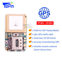 Wholesale Mercedes Module - Mini GSM GPS Tracker ZX302 PCB'A MTK2503 Module Locator Real-Time Tracking SMS Coordinate Geo-Fence for Children Pets Car Vehicle 10pcs lot