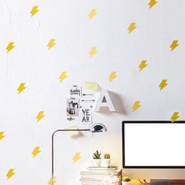 Wholesale Decorative Pvc Wall Paper - 420PCS LOT Luminous Wall Stickers Lightning Decorative Wall Children Home Decoration Originality & Cartoon art Wall decors Free Shipping