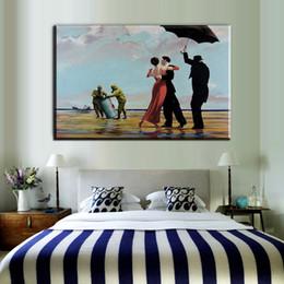 Wholesale Digital Oil Painting Lady - ZZ57 graffiti canvas prints art gentleman lady dancing banksy canvas pictures oil art painting for livingroom bedroom decoration