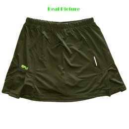 Wholesale Short Fitted Skirts - Wholesale- Dry fit Athletic Running Skort Tennis Skirt With Built in Shorts Women Size 3XL