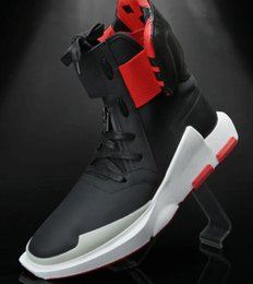 Wholesale Thick Waterproof Fabric - 2017 autumn y-3 black warrior ninja shoes leather y3 high help men's shoes with thick bottom casual shoes tide