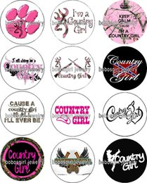 zodiac charms free shipping Promo Codes - Free shipping COUNTRY GIRL glass Snap button Charm Popper for Snap Jewelry good quality 12pcs   lot Gl375 jewelry making