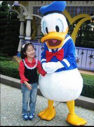 Wholesale Cartoon Costumes Donald - HOT Donald Duck & Daisy Duck Cartoon Mascot Costume Free Shipping Christmas And Halloween Party fancy dress