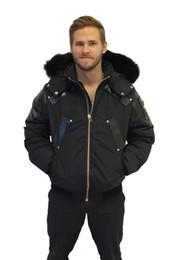 Wholesale Mens Big Fur Coat - Brand Mens Homme Winter Jassen Gold Bomber Chaquetas Outerwear Big Fur Hooded Fourrure Manteau Goose Down Jacket Coat Hiver Doudoune