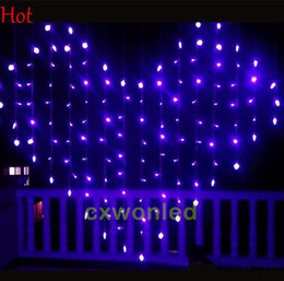 Wholesale Curtain Colors - Christmas LED String Light - Holiday Sale 10pcs 3 colors Height 1.2m curtain Xmas Led Christmas Wedding Party Decoration Lights 110V 220V
