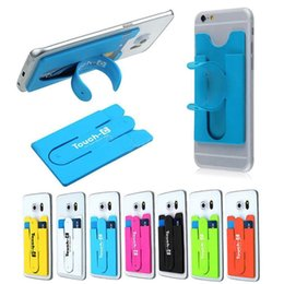 Wholesale Card Holder Stick - Universal Touch-C Silicone Mobile Phone Holder 3-in-1 Self Adhesive Slim Phone Stand Credit Card Holder Wallet Stick for Your Phone or Case