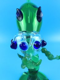 Wholesale Glass G Spot - Bongs!Aliens G Spot Glass Bongs Water Smoking Pipes Glass Bong Hookahs Green Color 16cm with free shipping