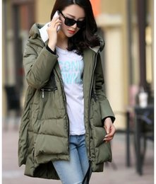 Wholesale Elegant Fleece Coats - New Arrival Winter Women's Thickened Down Jackets Female Long Sleeve Hooded Slim Overcoat Elegant Coat Park Pluse Size Hight Quality