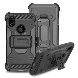 Wholesale iphone swivel cases - Clip Belt Stand Armor Hybrid Hard Case For iphone X Samsung NOTE8 hockproof Cover Silicon Swivel Holster Camo Phone