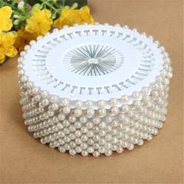 Vendita calda 35mm 480 Pz Bianco Testa Rotonda Creazione di Perle Perla da Cucire Artigianato Per La Casa Giardino Artigianato FAI DA TE Accessori Strumento da