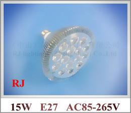 Wholesale Par Profile - lathe profile aluminum LED spot light lamp spotlight LED bulb par light parlight E27 AC85-265V 15LED 15W 1200lm CE