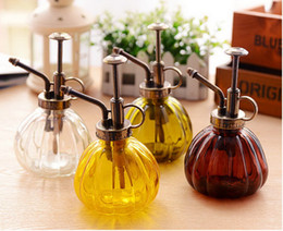 Wholesale Home Bottled Water - Watering Can Pot Retro Vintage Pumpkin Watering Can Pot Home Garden Plants Flowers Spray Bottle Irrigation Tool Flowers Spray Bottle