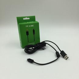 Adaptador usb para xbox on-line-XBOX Um Carregador USB Cabos Controlador de Jogos Sem Fio data line Carregador de Carregamento com Componente de Luz LED 2.7 m Adaptador de Cabo para xbox um