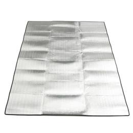 Tapis de camping double en Ligne-Gros-200x150 cm double face feuille d'aluminium résistant à l'humidité mat EVA pique-nique en plein air camping tapis Eco portable couverture d'exercice