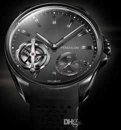 Wholesale Calibre Pendulum Watch - LUXURY Brand New Mechanical Men's watch Luxury Calibre rs Rubber Band Original Clasp Transparent pendulum Men Watches wristwatch TA11