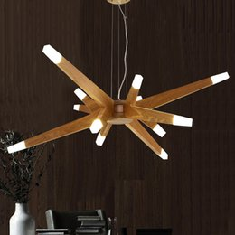 Wholesale Hall China - Modern Art Creative Agnes Chandeliers Branch Agnes Pendant Lights China Ash Natural Wooden Starry Sky Light Fitting