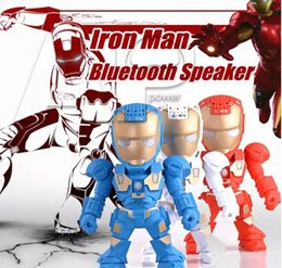 Wholesale Button Phones - C-89 Iron Man Wireless Bluetooth Speaker Mini Protable Sealed button Music Speaker With TF Card FM Radio For Phone and Computer