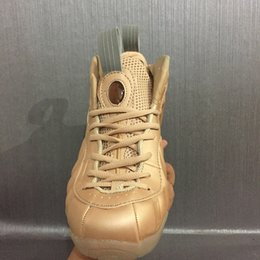 Wholesale Clear Penny - 2017 New Air Men penny hardaway Basketball Shoes Cheap Gold Pro in Fleece Mens Sports Sneakers Basket ball Trainers shoes 8-13