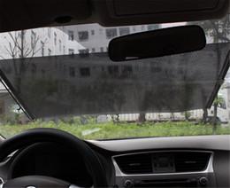 Wholesale Cars 68 - Wholesale- 68*125cm Auto Retractable Car Auto Curtain Front Window Sun Shade Windshield Sunshade Shield Visor Cool Heat Block