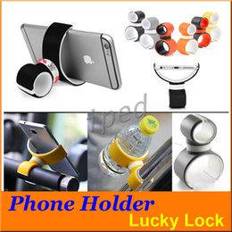 Wholesale Apple Shaped Iphone Stand - Phone Holder 360 Degree Car Air Vent Dual C Shape Bike Bicycle Mount Stand for Apple iPhone 7 6 6S Samsung Galaxy Colors Cheapest Free 30pcs